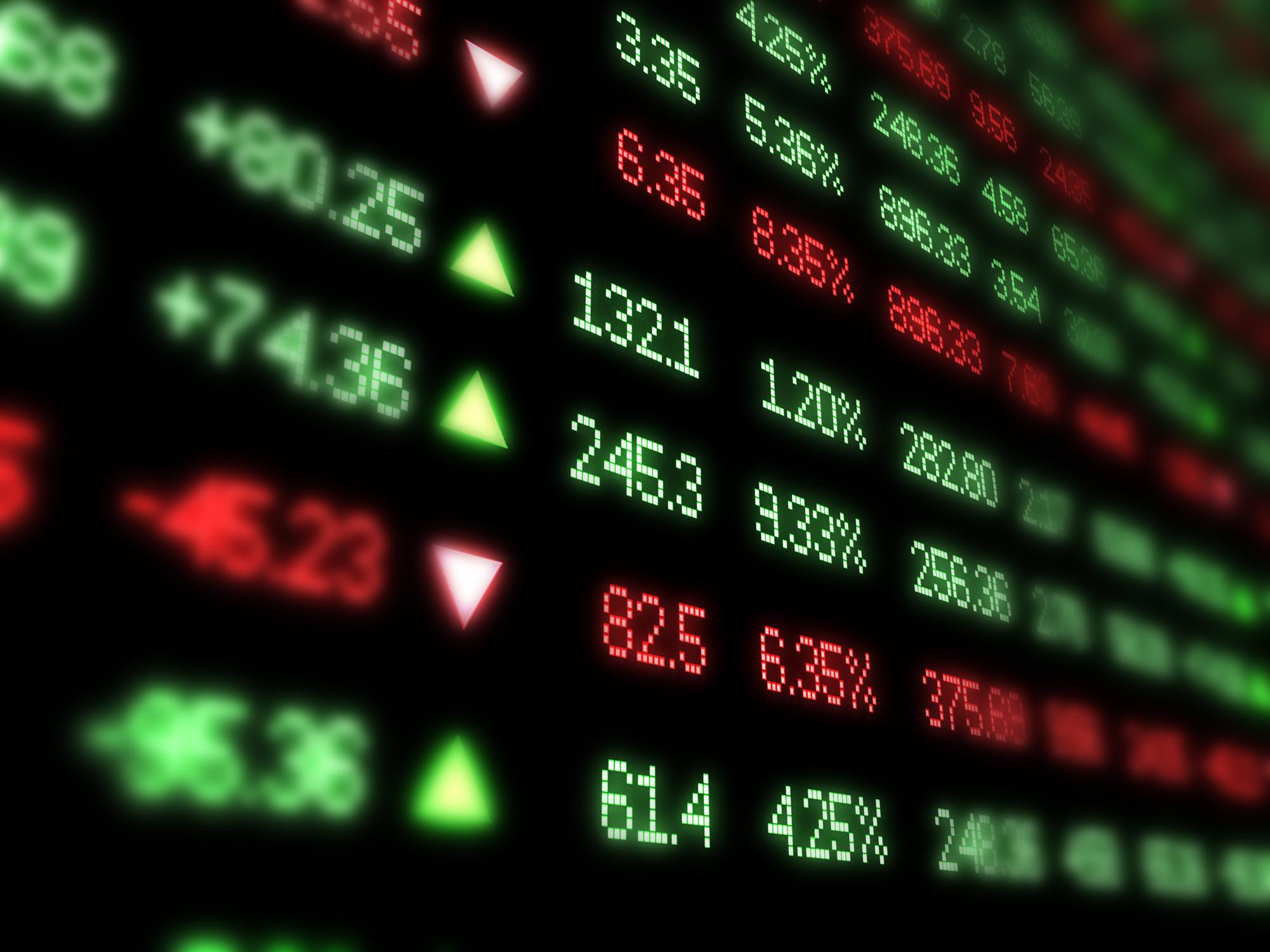 Stock market ticker board NYSE NASDAQ - The DI Wire